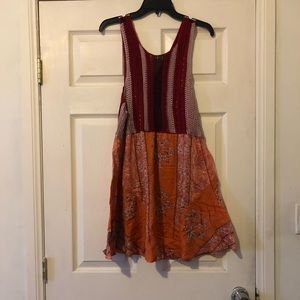 Free People Katie's Mini Dress Fit and Flare